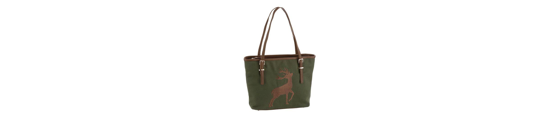 Alpenfl眉stern Trachtentasche mit Hirschstickerei