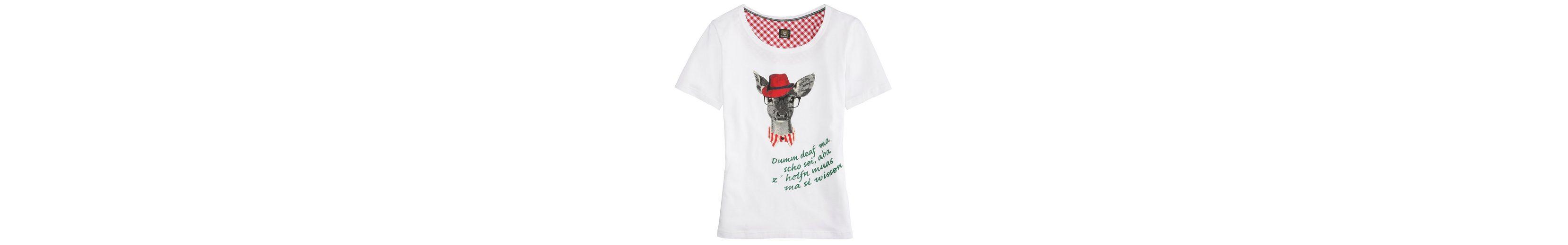 OS-Trachten Trachtenshirt Damen mit Reh-Motiv Mit Mastercard Online Jb8ps0LcUm