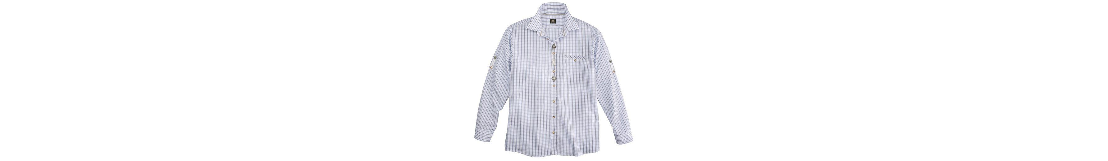 Um Zu Verkaufen Freies Verschiffen Vorbestellung OS-Trachten Trachtenhemd mit Krempelärmel Auslass Für Schön CJKk11M