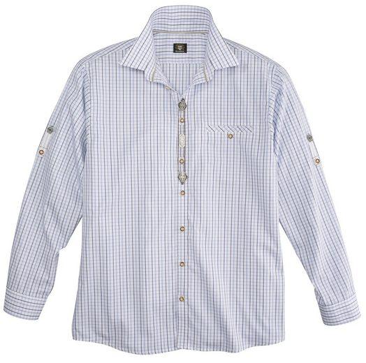 OS-Trachten Trachtenhemd mit Krempelärmel