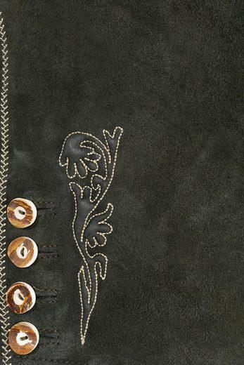 Marjo Trachtenlederhose kurz Herren mit Stickerei
