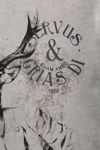 Kruger Buam Costume Shirt Men With Deer Motif