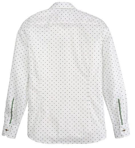 OS-Trachten Trachtenhemd mit Haifischkragen