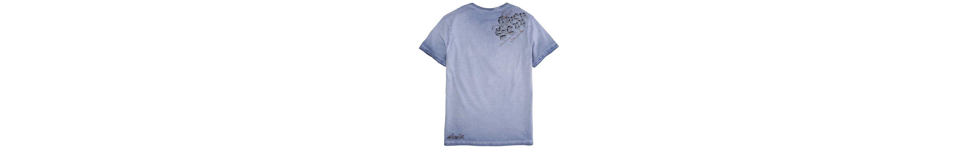 Verkauf Besten Preise Hangowear Trachtenshirt Herren mit Printdetails Niedriger Preis Billig Vermarktbare A6B9RWH