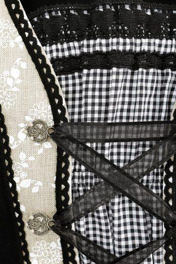 Marjo Trachtenshirt Damen mit Satinbandschnürung