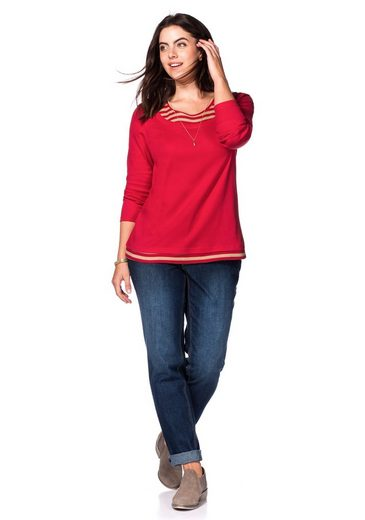 sheego Casual Langarmshirt, in 2-in-1-Optik