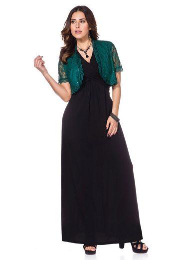 sheego Style Bolerojacke, Mit farblich passenden Pailletten besetzt