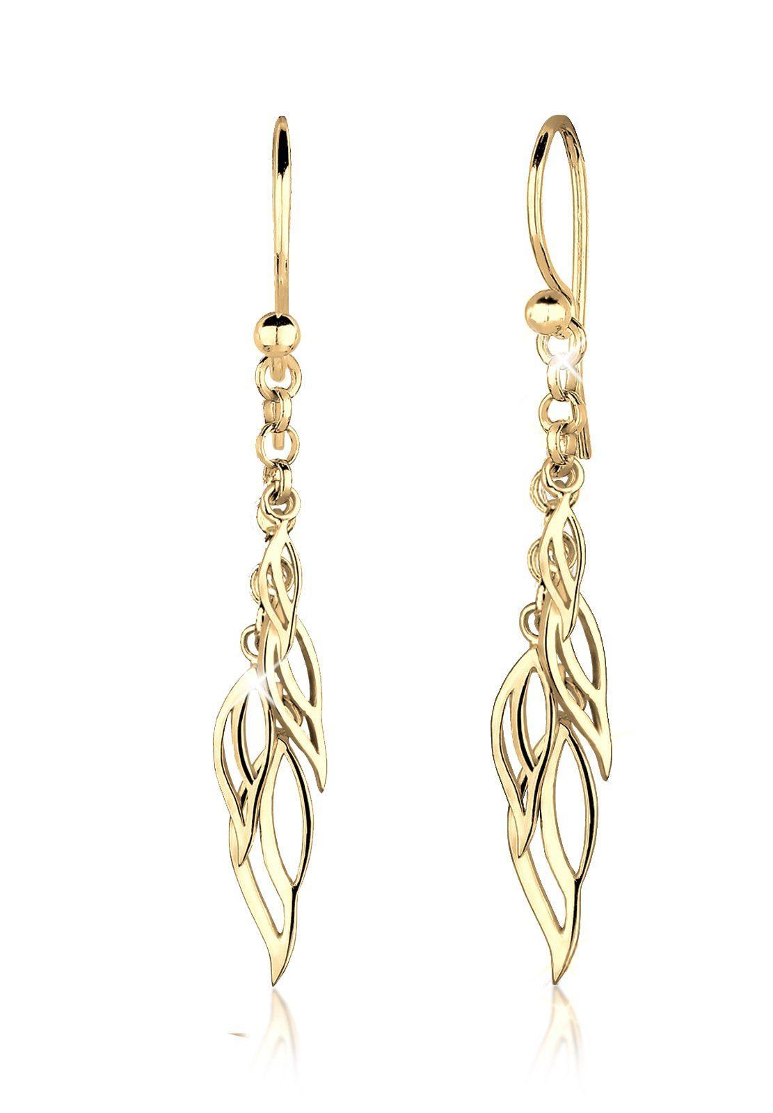 Goldhimmel Ohrringe »Blätter Elegant Trend Filigran Silber vergoldet«