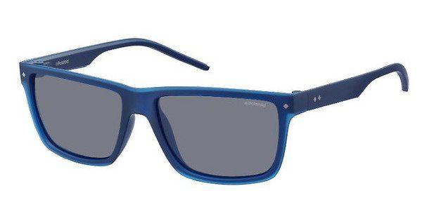 Polaroid Herren Sonnenbrille » PLD 2039/S«, blau, M3Q/C3 - blau/blau