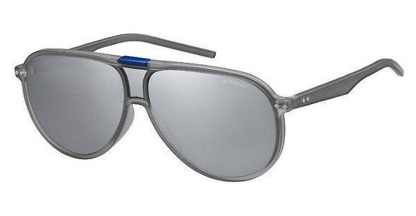 Polaroid Herren Sonnenbrille » PLD 6025/S«, weiß, V63/LM - weiß/ gelb