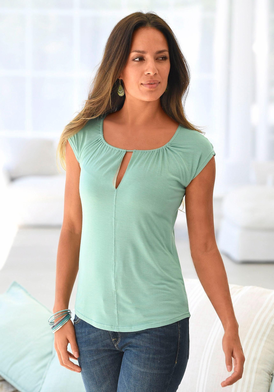T-Shirt weiß Lascana Billiger Großhandel Erscheinungsdaten Authentisch Spielraum Billig lzFvv29q13