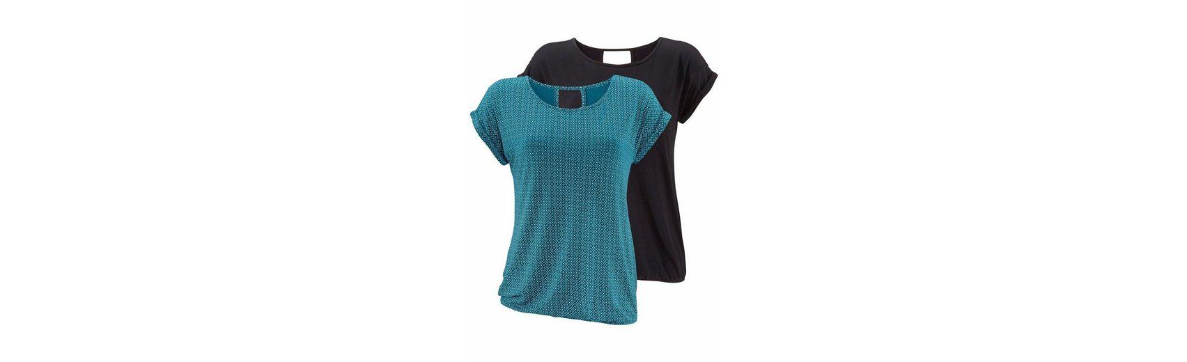 Spielfrei Versand LASCANA T-Shirts (2 Stück) mit Cut-out im Nacken Holen Sie Sich Die Neueste Mode Rabatt Kosten Billig Holen Eine Beste 100% Authentisch Günstiger Preis buTRr