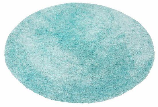 Hochflor-Teppich »Magong«, my home, rund, Höhe 25 mm, Besonders weich durch Microfaser