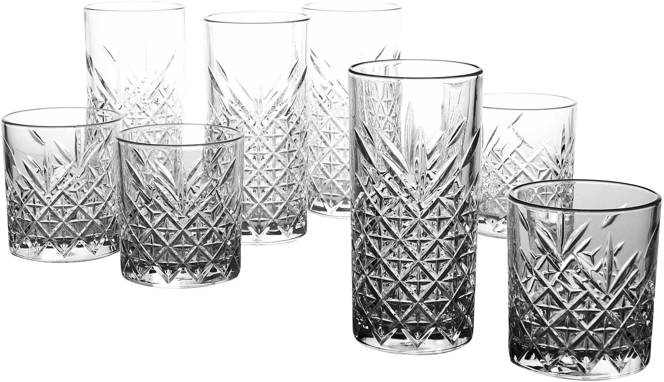 CreaTable Gläser-Set, 8 Teile, »TIMELESS«