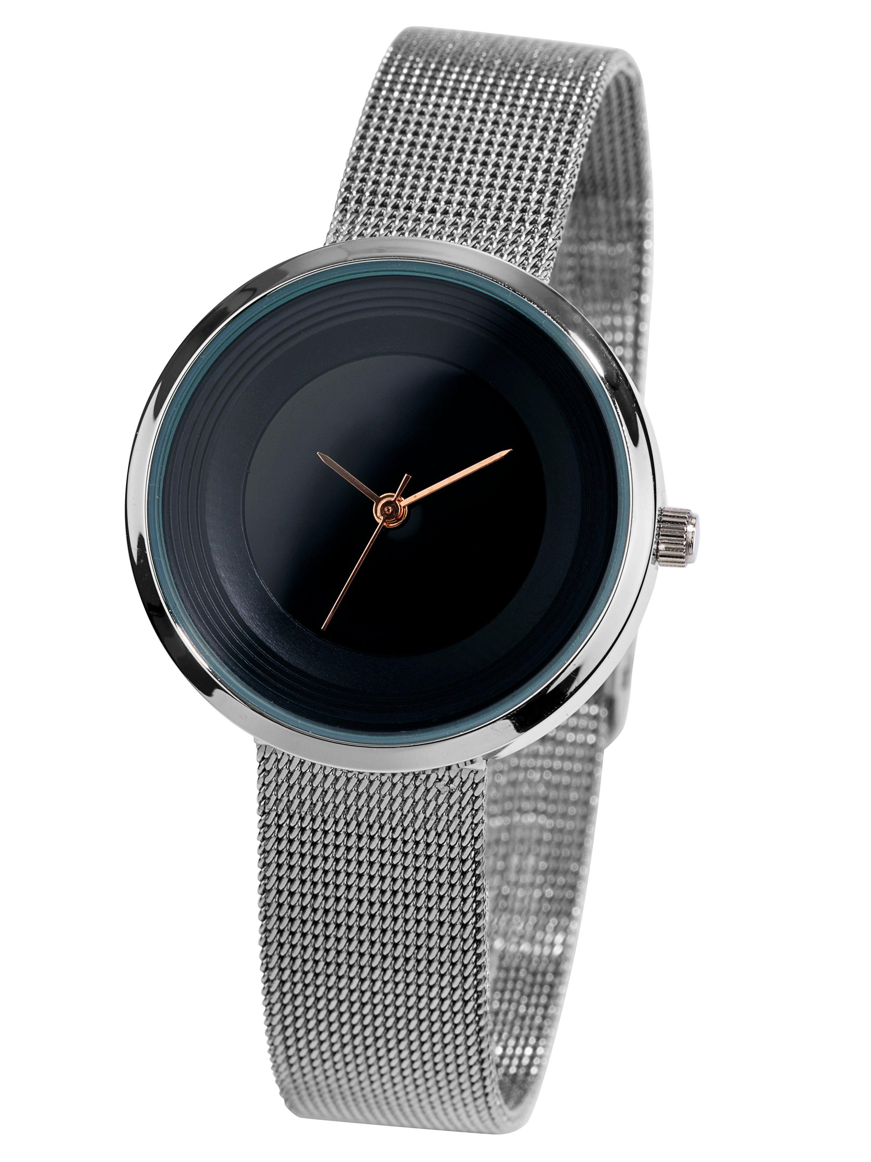 Heine Armbanduhr mit Meshband