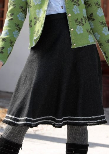 Hammer Schmid Costume Skirt With Trimming Cuts And Fringe And Braid