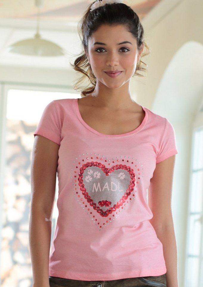 Marjo Trachtenshirt Damen mit Herzprint kaufen   OTTO b5b515e128