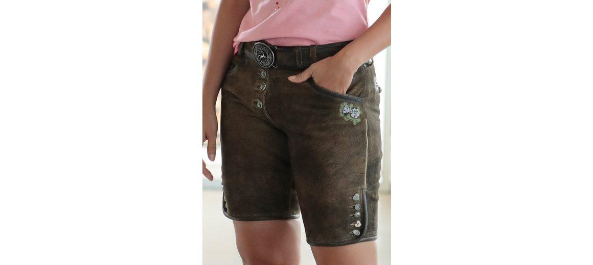 Modestil Country Line Kurze Trachtenlederhose Damen mit Stickerei 100% Original Online-Verkauf Bilder Freier Versandauftrag IC1LTiRG