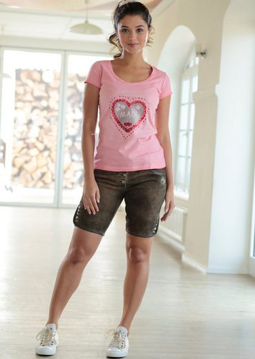 Marjo Trachtenshirt Damen mit Herzprint