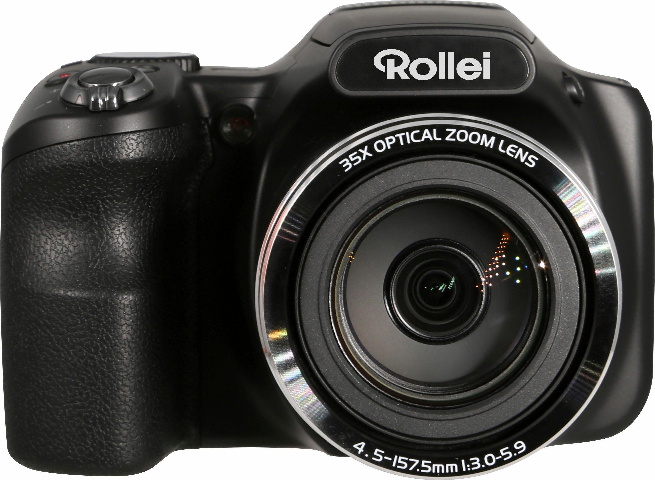 Rollei Powerflex 350 WiFi Super Zoom Kamera, 16 Megapixel, 35x opt. Zoom, 7,6 cm (3 Zoll) Display