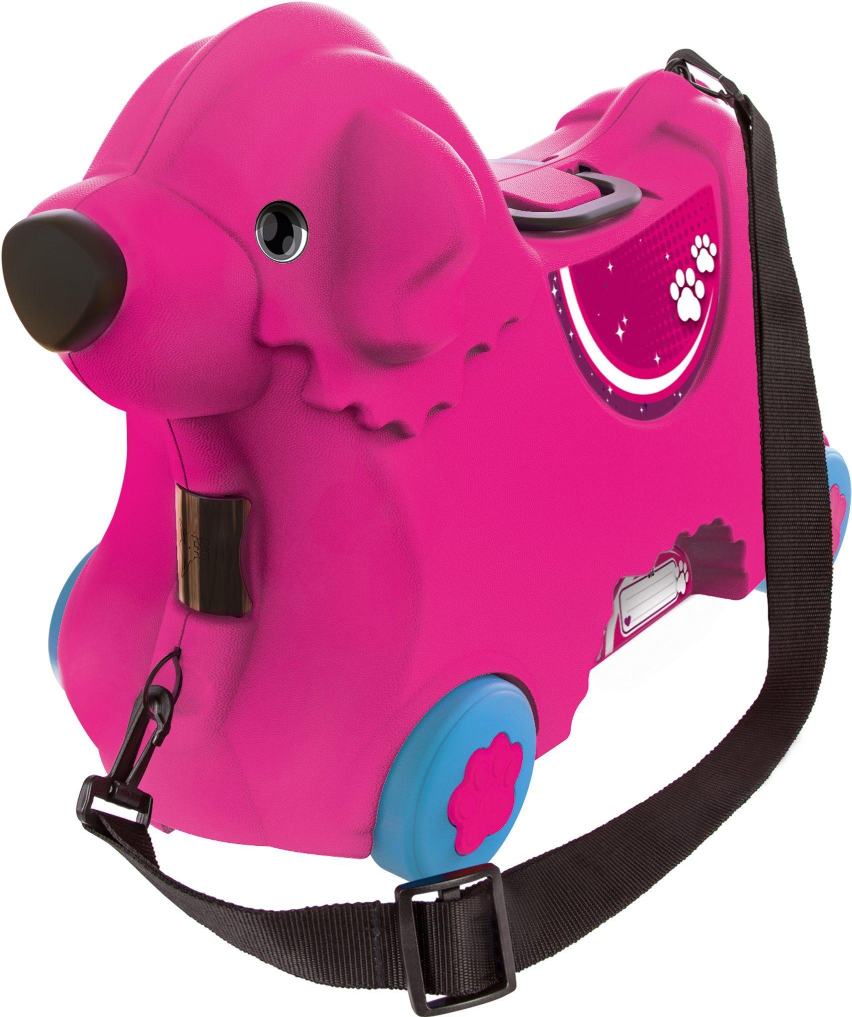 BIG 2in1 Kindertrolley und Rutscher, »BIG Bobby Trolley pink«