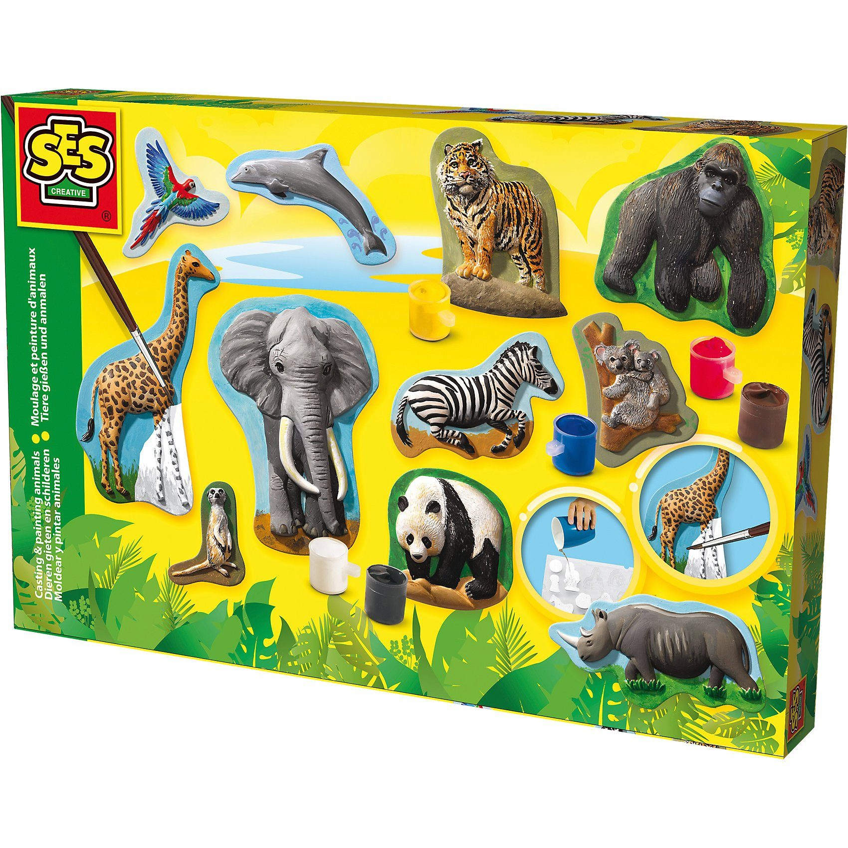 SES Creative Gießen und Anmalen - Wilde Tiere