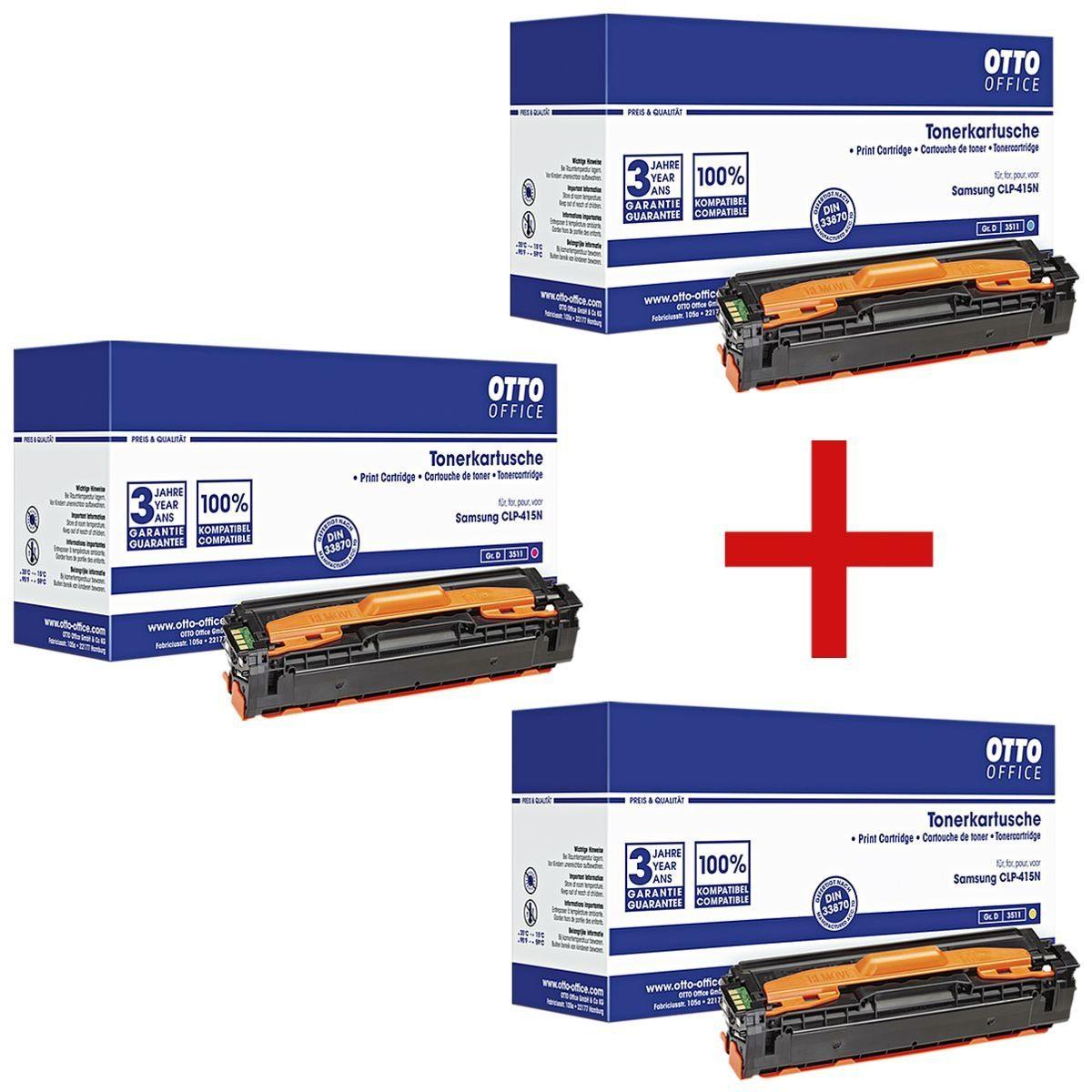 OTTOOFFICE STANDARD Tonerpatronen-Set ersetzt Samsung »CLT-C/M/Y504S« 1 Set