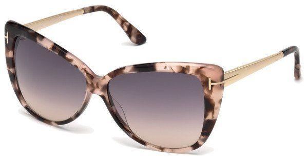 Tom Ford Damen Sonnenbrille »Reveka FT0512«, braun, 55B - havana/grau