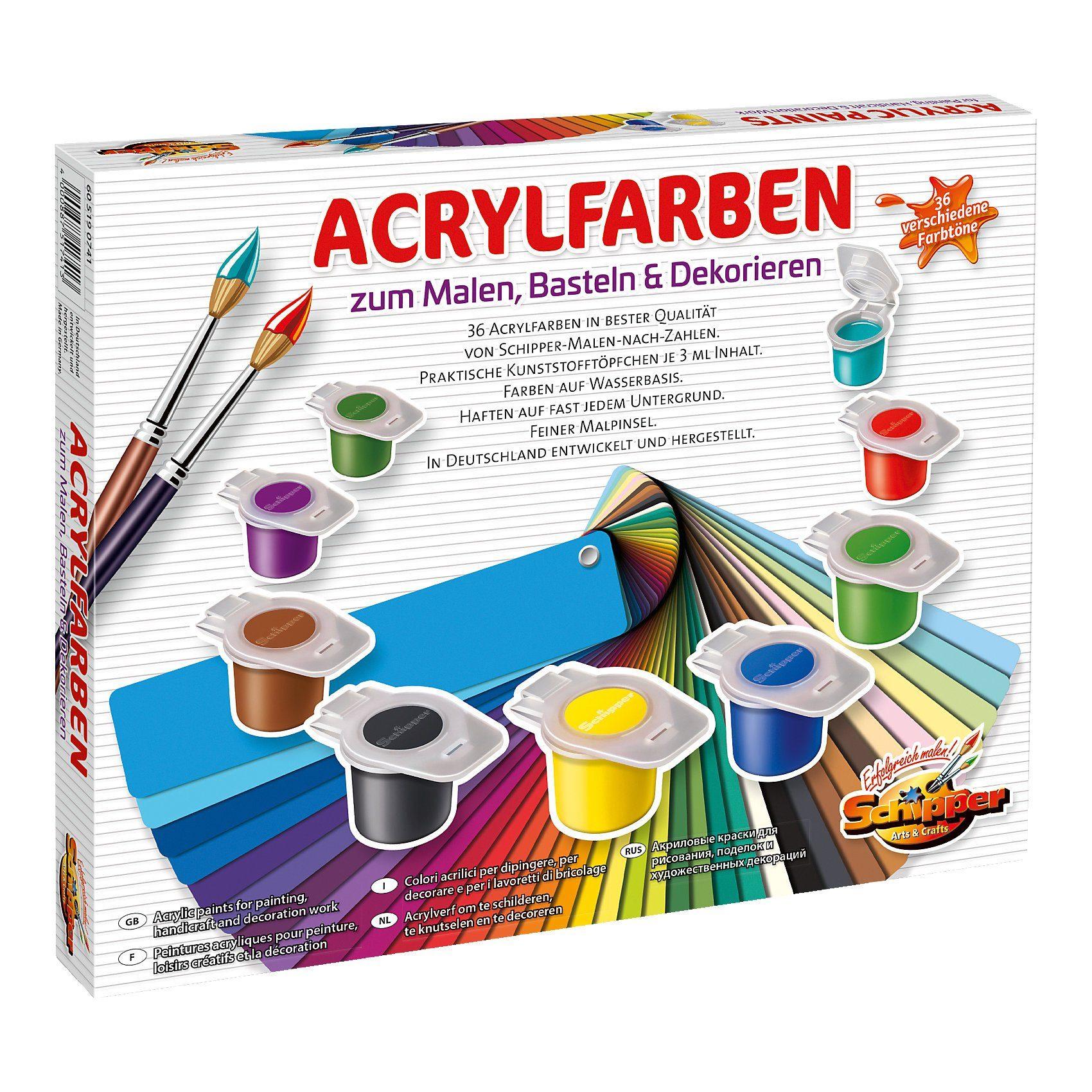 Schipper Set Acrylfarben, 36 versch. Farben