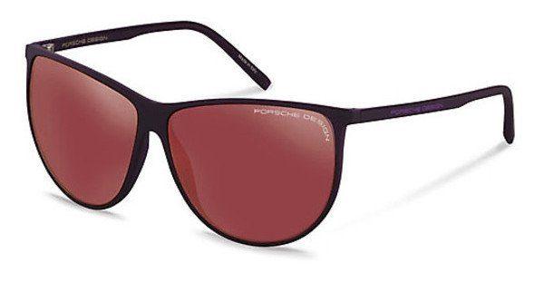 PORSCHE Design Porsche Design Damen Sonnenbrille » P8601«, rot, B - rot/ silber