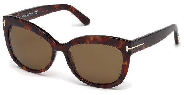 Tom Ford Damen Sonnenbrille »Alistair FT0524«, schwarz, 01B - schwarz/grau