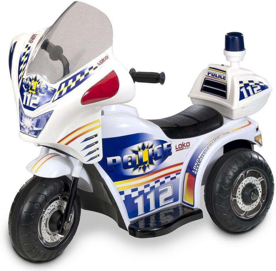 Carromco elektrofahrzeug für kinder tribike polizei