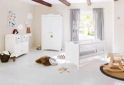 Pinolino® Babyzimmer-Komplettset »Florentina«, (Set, 3-St), breit; mit Kinderbett, Schrank und Wickelkommode; Made in Europe
