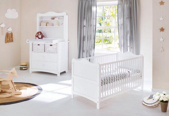 Pinolino® Babyzimmer-Komplettset »Florentina«, breit, inkl. Regalaufsatz