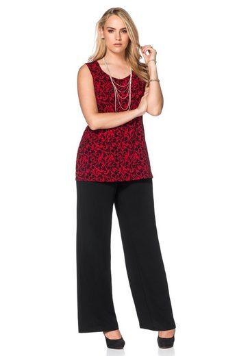 sheego Style Schlupfhose, knitterfrei und koffertauglich