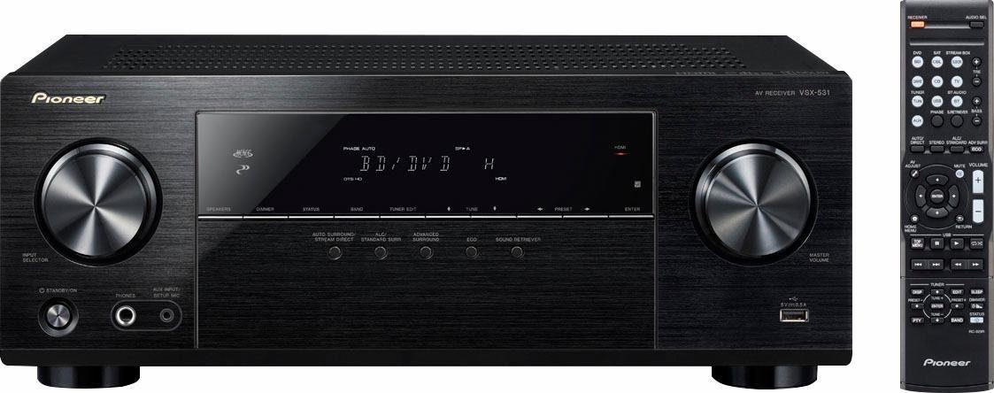 Pioneer VSX-531D 5.1 AV-Receiver (Hi-Res, 3D, Bluetooth)