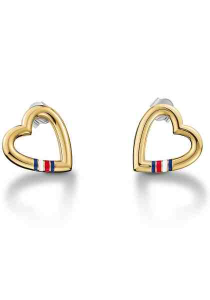 Tommy Hilfiger Paar Ohrstecker »Herz, Classic Signature, 2700910«