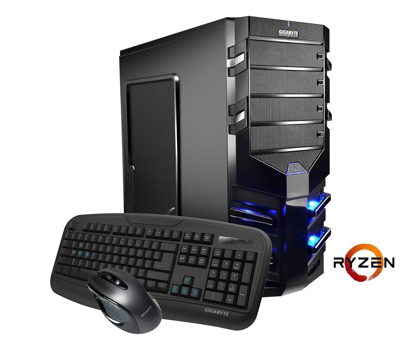 Hyrican AMD Ryzen™ 7 1800X, 16GB, SSD + HDD, GeForce® GTX 1080 »Alpha Gaming 5496«