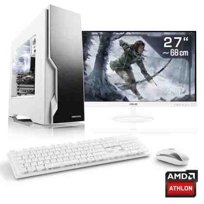 "CSL Gaming PC Set Athlon X4 880K | GTX 1050 Ti | 16GB RAM | 27"" TFT »Sprint T4694 Windows 10 Home«"
