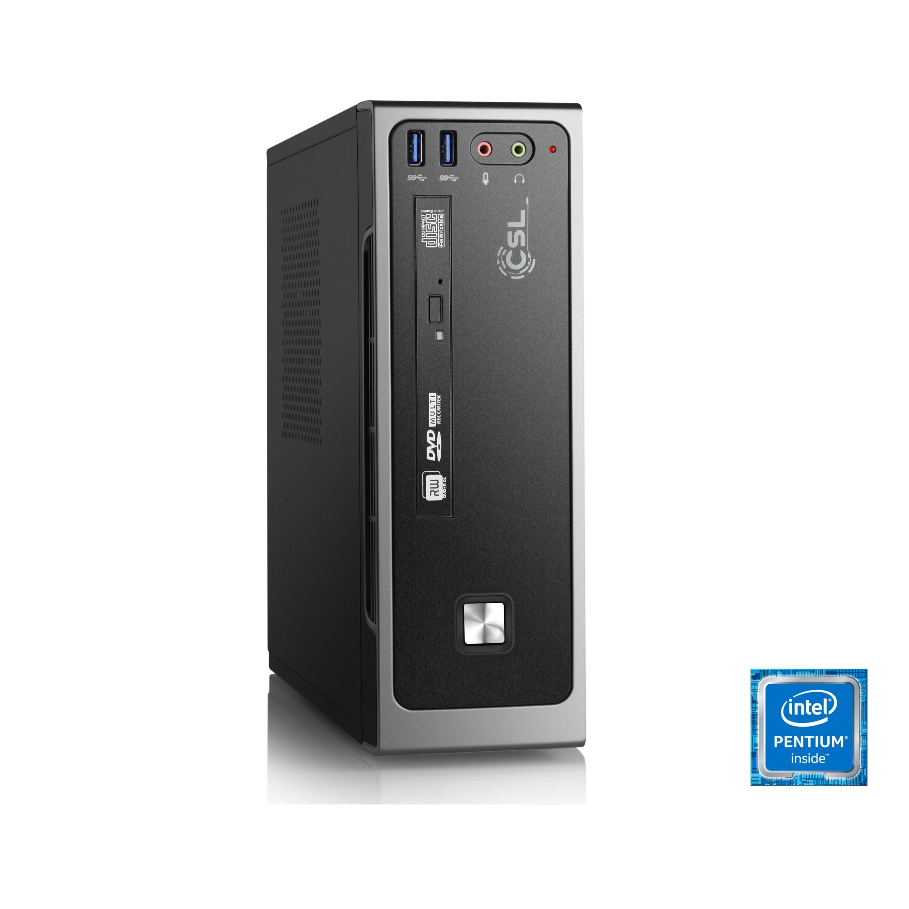 CSL Mini PC | Intel J4205 | Intel HD Grafik | 8GB DDR3 | 240GB SSD »Ultra Silent J4205 Windows 10«