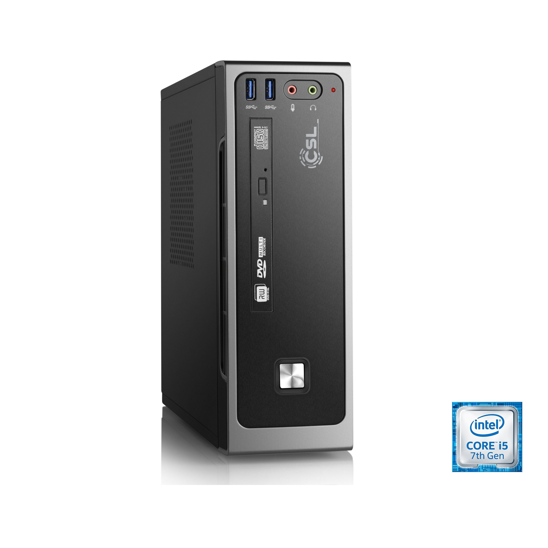 CSL Mini PC | Core i5-7500 | Intel HD 630 | 8 GB DDR4 | 240 GB SSD »Mini-ITX i5-7500 Windows 10«