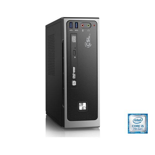 CSL Mini PC, Core i5-7500, Intel HD 630, 8 GB DDR4, 240 GB SSD »Mini-ITX i5-7500 Windows 10«