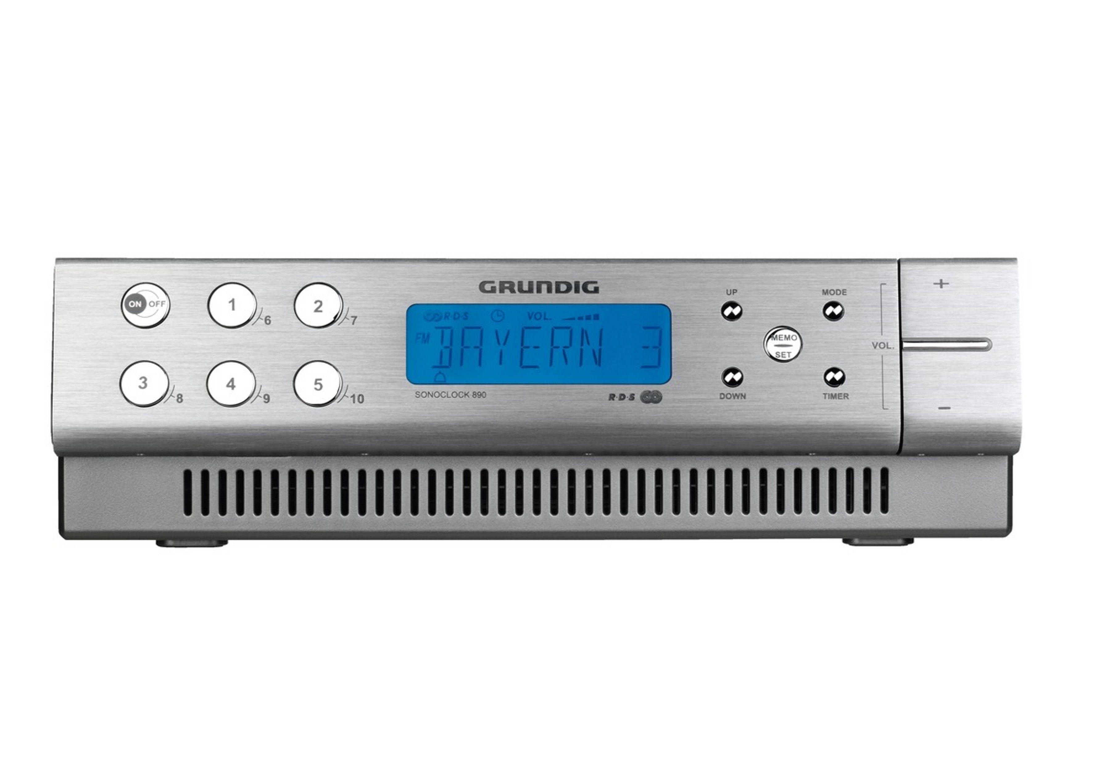 Grundig Unterbaufähiges Uhrenradio mit UKW-RDS-Empfang »Sonoclock 890«