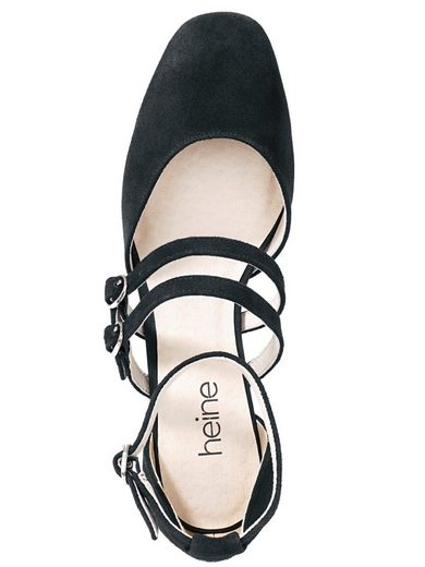 Heine Pumps , Veloursleder