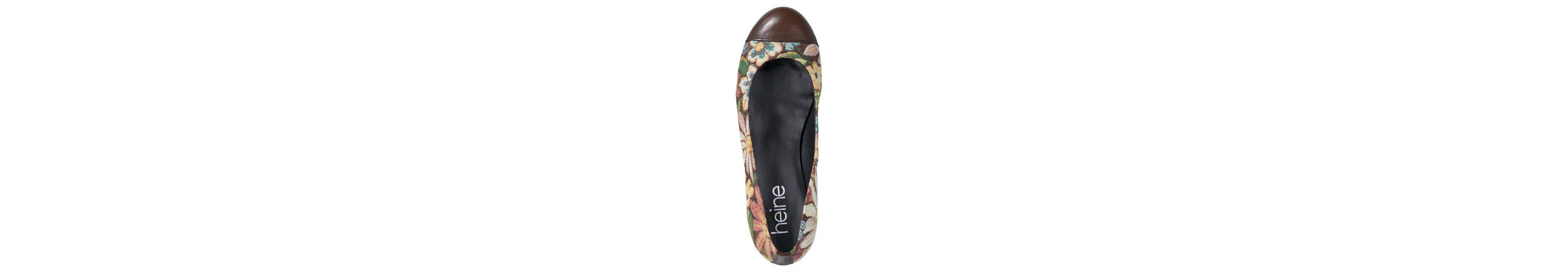 Heine Ballerina im Floral-Dessin Modisch Günstiger Preis Brandneue Unisex Günstig Online Verkauf Des Niedrigen Preises Erkunden Auslass Bester Verkauf l6QGvm7Ao