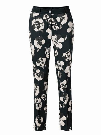 ASHLEY BROOKE by Heine Bodyform-Druckhose mit Blumen-Dessin