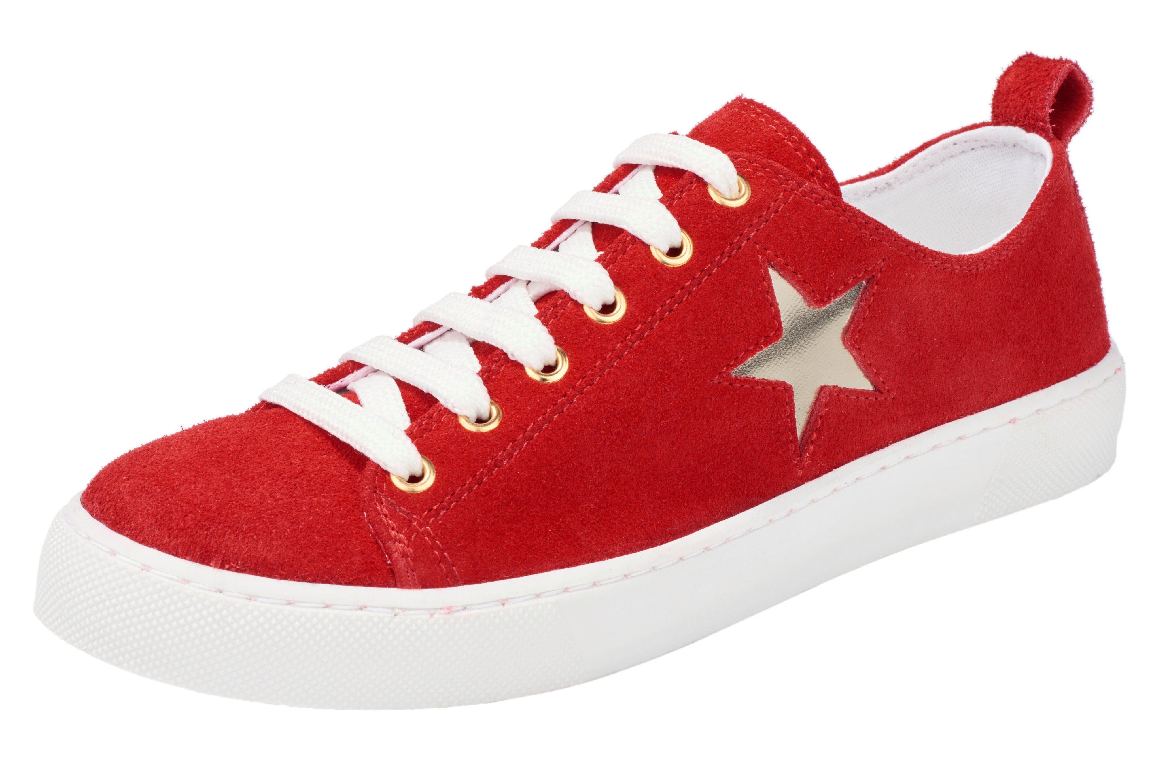 Heine Sneaker mit Stickerei, rot, 36 36