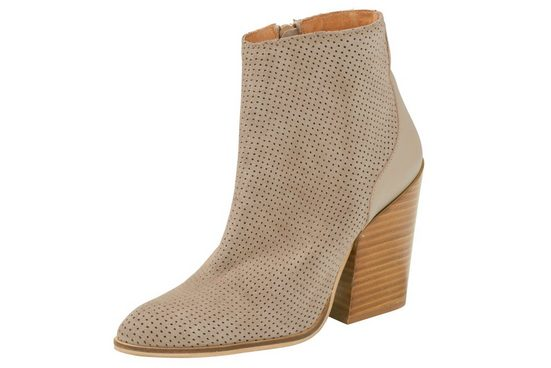 Heine Ankle Boot With Perforation