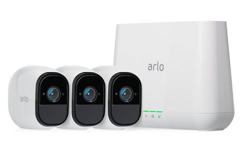 netgear berwachungskamera vms4330 arlo pro sicherheitssystem mit 3 kameras online kaufen otto. Black Bedroom Furniture Sets. Home Design Ideas