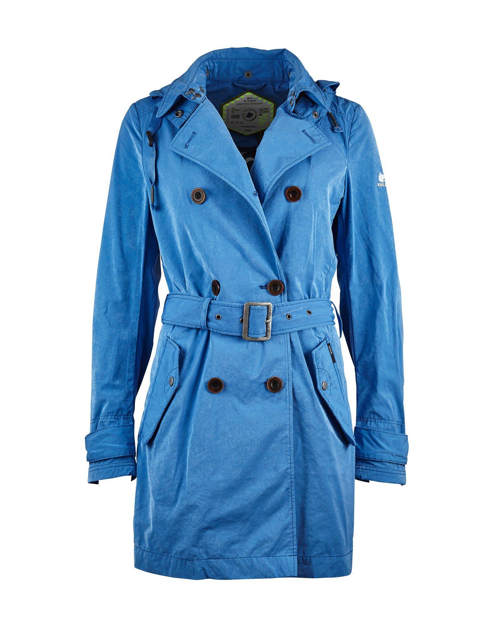 Günstig Kaufen Zuverlässig Verkauf Erhalten Authentisch Trenchcoat in blau für Damen Khujo Modisch Günstiger Preis dlqc3